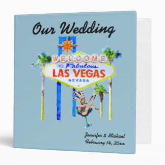 Las Vegas Wedding Album light blue Binders