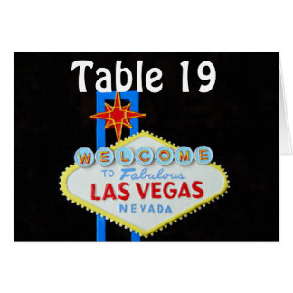 Las Vegas Wedding Assigned Seating Card