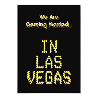 "Las Vegas Wedding. Black and Golden Yellow. Custom 5"" X 7"" Invitation Card"