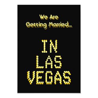 Las Vegas Wedding. Black and Golden Yellow. Custom Card