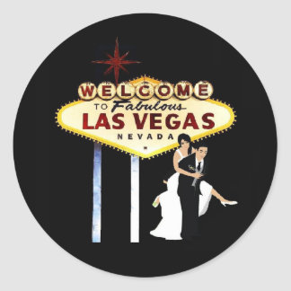 Las Vegas Wedding Bride & Groom Sticker