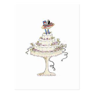 Las Vegas Wedding Cake Postcard