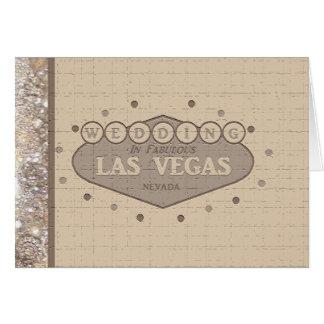 Las Vegas Wedding Card