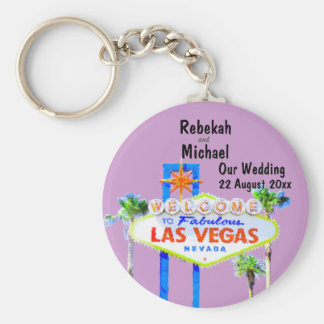 Las Vegas Wedding Date Basic Round Button Keychain