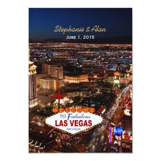 Las Vegas Wedding Invitation Blue