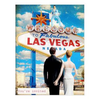 Las Vegas Wedding Invitation Post Cards