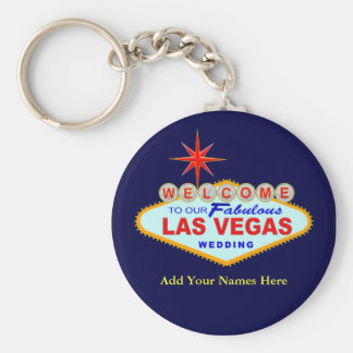Las Vegas Wedding Key Chain