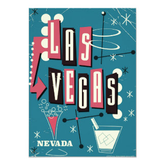 Las Vegas wedding nevada vintage travel poster Card