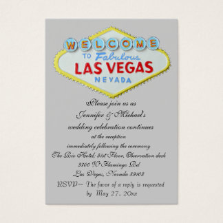 Las Vegas Wedding Reception Invitation Enclosure