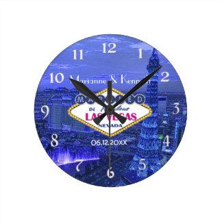 Las Vegas Wedding Round Clock