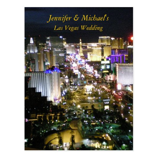Las Vegas Wedding RSVP reply Postcard