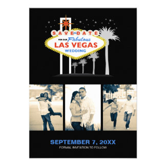 Las Vegas Wedding Save-the-date Custom Announcement