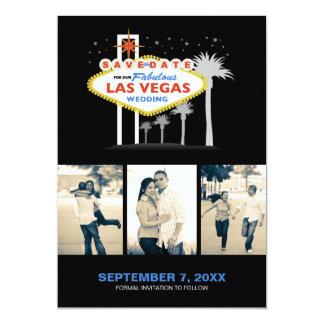 "Las Vegas Wedding Save-the-date 5"" X 7"" Invitation Card"