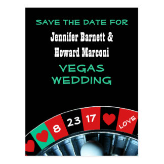 Las Vegas Wedding Save The Date Post Card