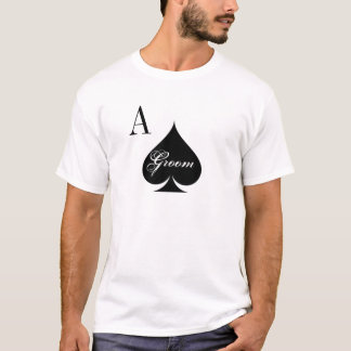 Las Vegas wedding shirt for groom | Ace of spades