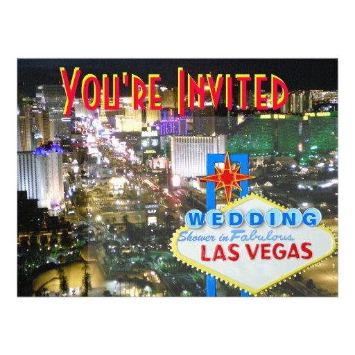 Las Vegas Wedding Shower Invitation
