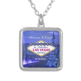 Las Vegas Wedding Silver Plated Necklace