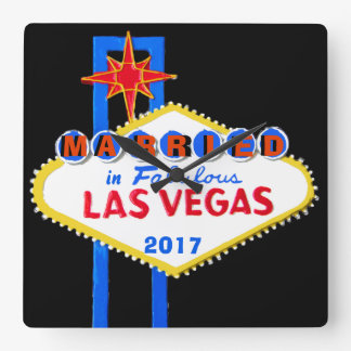 Las Vegas Wedding Souvenir Clocks