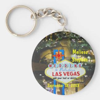 Las Vegas Wedding Strip View Basic Round Button Keychain