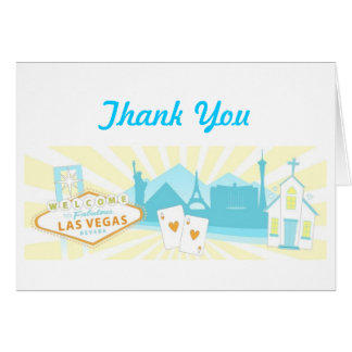 Las Vegas Wedding Thank You Cards - Pastel
