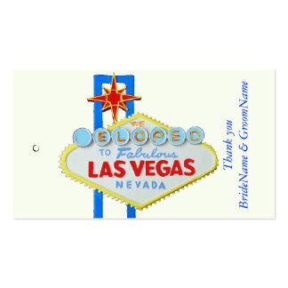 Las Vegas Wedding Thank you Gift Tag Business Card
