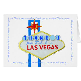 Las Vegas Wedding Thank You notes