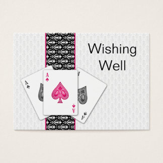 Las Vegas Wedding wishing well cards