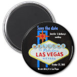 Las Vegas Weddings personalized Save the Date Magnets
