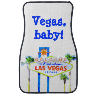 Las Vegas Welcome Sign Auto Mat