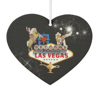 Las Vegas Welcome Sign On Starry Background Car Air Freshener