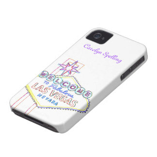Las Vegas Welcome Sign pastel Case-Mate iPhone 4 Case