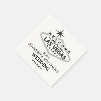 Las Vegas Welcome Sign Personalized Wedding Disposable Napkins