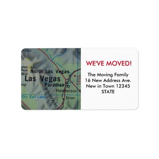 Las Vegas We've Moved label