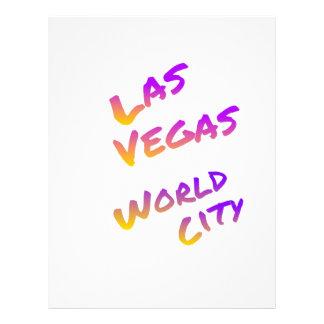 Las Vegas world city, colorful text art Letterhead