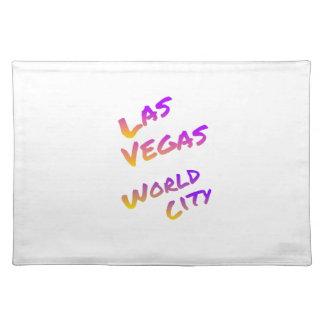 Las Vegas world city, colorful text art Placemat