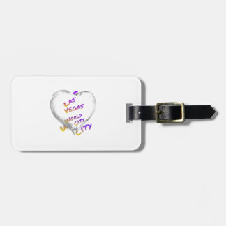 Las Vegas world city, Heart Luggage Tag
