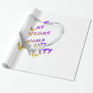Las Vegas world city, Heart Wrapping Paper