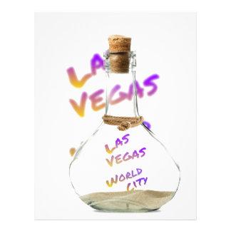 Las Vegas world city, water Bottle Letterhead
