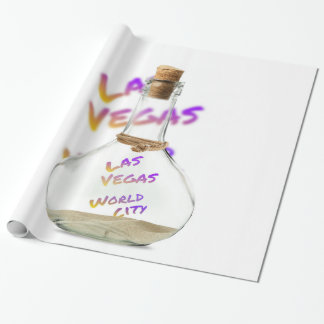 Las Vegas world city, water Bottle Wrapping Paper