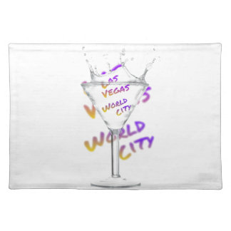 Las Vegas world city, Water Glass Placemat