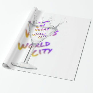Las Vegas world city, Water Glass Wrapping Paper