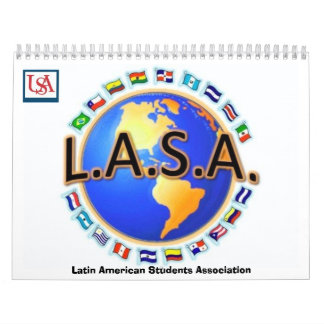 LASA Latin American Students Association Wall Calendar
