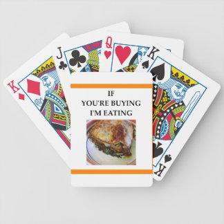 LASAGNA BICYCLE PLAYING CARDS