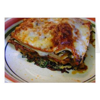 Lasagna Food Card