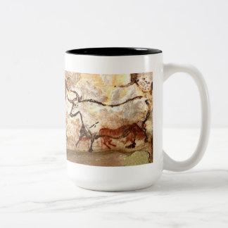 Lascaux Cave Painting: Bulls Two-Tone Coffee Mug