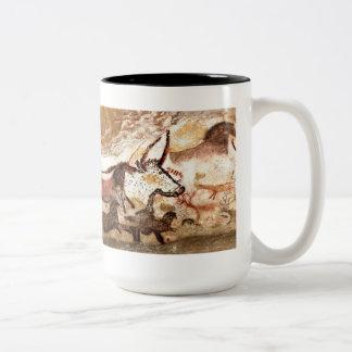 Lascaux Cave Painting: Bulls (version II) Two-Tone Mug