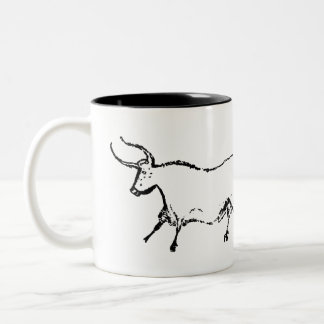 Lascaux Cow Two-Tone Coffee Mug