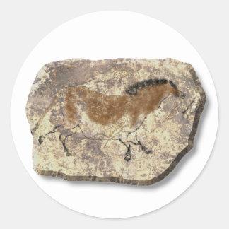 Lascaux  Horse stone Classic Round Sticker