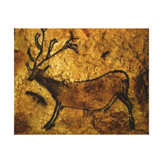Lascaux Prehistoric Cave Painting of Elk Canvas