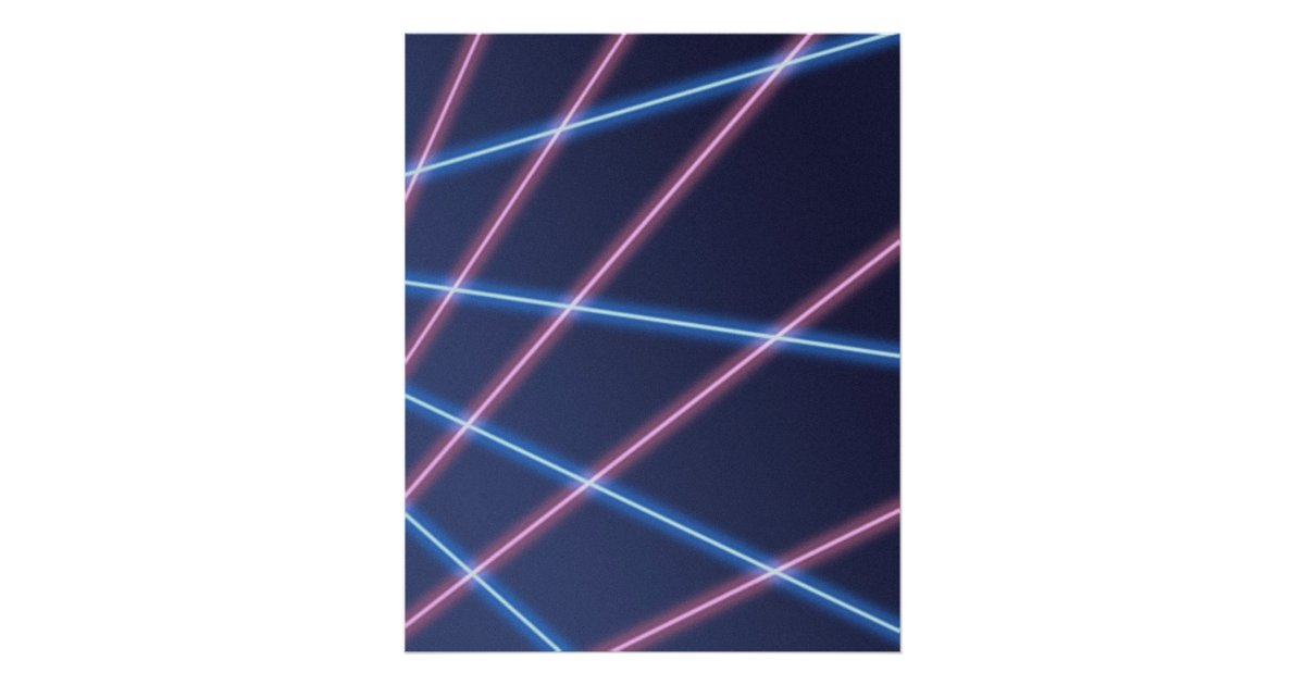 Laser Beam School Portrait Backdrop Poster Zazzleca
